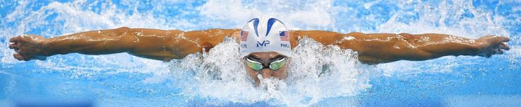 Michael Phelps from the US competes in the men's 200m swimming individual medley…