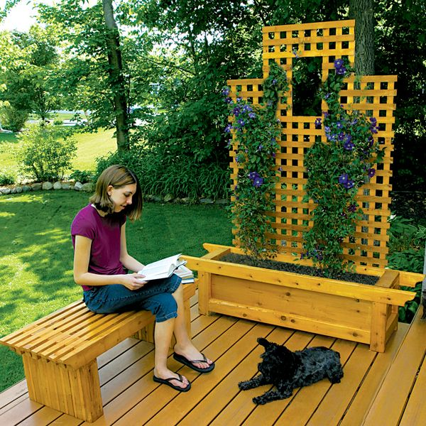 What's the point of creating an outdoor living space unless you look forward to spending time there? Even the most well-built deck can seem stark and uninviting if it lacks accessories that add visual interest and character. Building a matching bench and planter can make a deck seem more coordinated, comfortable and appealing.