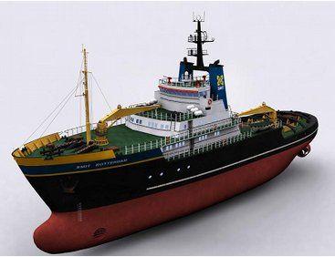The Billing Boats 1/75 Smit Rotterdam wooden ship model.