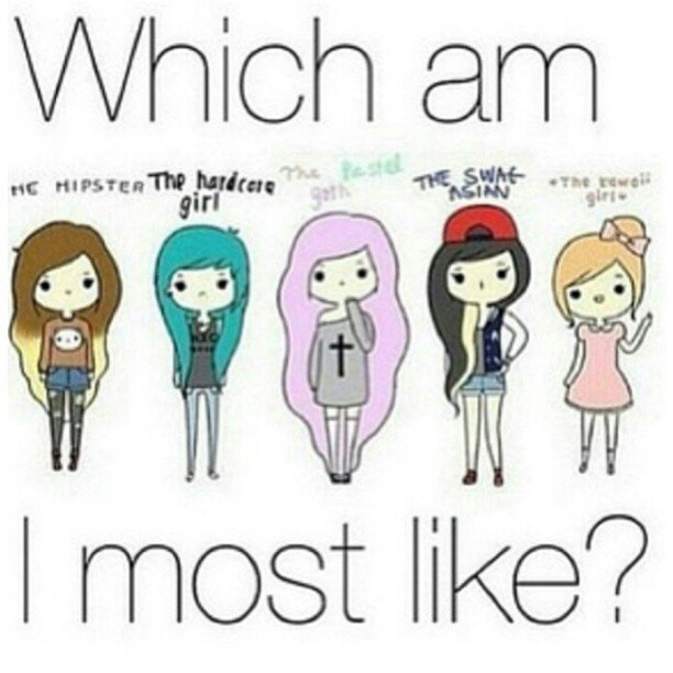 Which am I most like?   I think i'm the swag Asian except I am not Asian, but you know what I mean haha