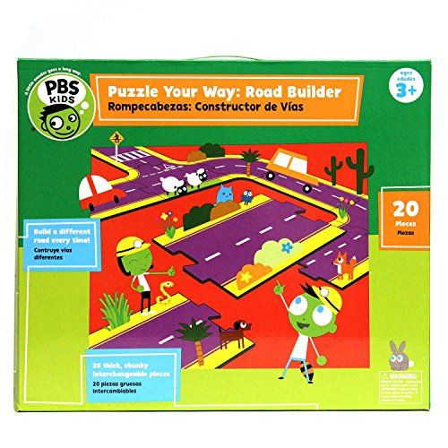 Pbs Kids Puzzle Your Way Road Builder  20 Count Pbs Kids