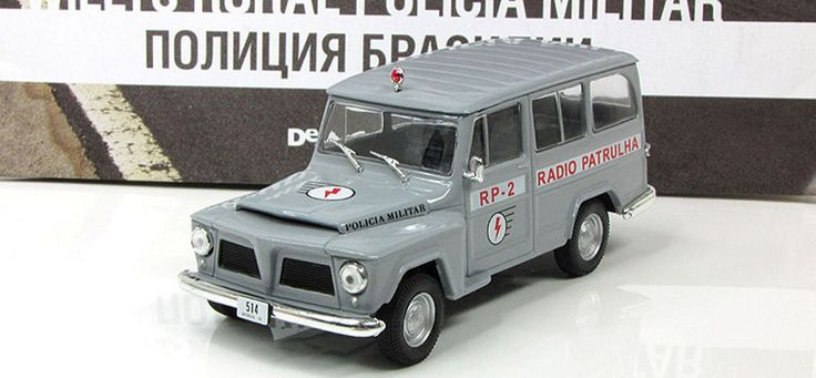 Willys Rural Wagon police Brazil  DeAgostini 1:43  model  World Police