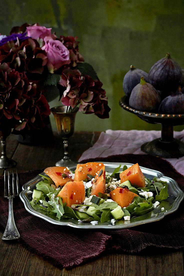 Paahdettu kurpitsasalaatti | K-ruoka #myskikurpitsa #kurpitsa