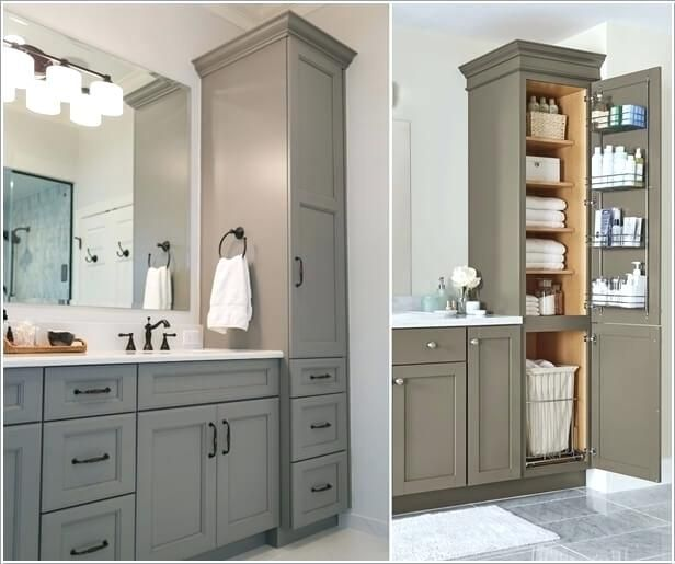 Bathroom Tower Cabinet, Bathroom Storage Tower