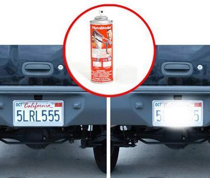 10 of the Most Bizarre Car Gadgets. Why is this PhotoBlocker license plate spray not banned? Click for more.