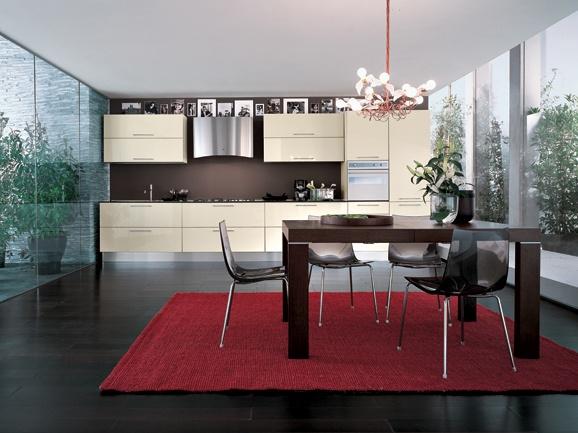 Cucina lineare della lunghezza di 390 cm in finitura - Lunghezza cucina ...