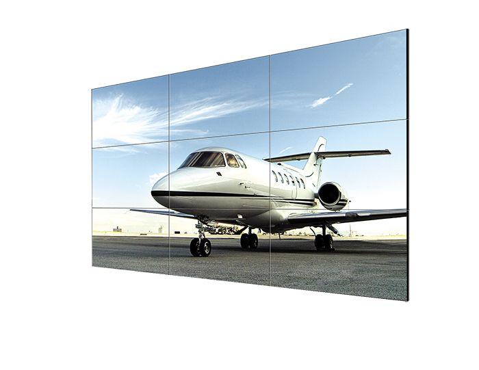 """[CATALOGUE GÉNÉRAL 2015] Mur d'images 55LV77A: Mur d'Images 55LV77A; Moniteur LED - 55"""" FHD – Dalle IPS; Technologie Transflective*; Luminosité : min 700cd/m²; Bezel fin : 2.25mm/1.25mm; Connectiques : HDMI, DVI, DP, PORT USB - Contrôle LAN RJ45/RS232; Mur d'images 15X15; Contrôle Thermique ; Smart Energy Saving; Utilisation H24/J7; Garantie 3 ans. RÉF. 55LV77A - 55"""" http://www.exertisbanquemagnetique.fr/info-marque/L-G"""