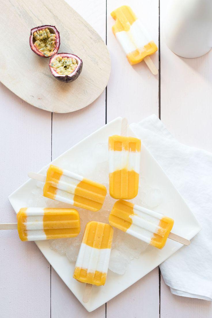 Une association de saveurs que j'adore en été, 100% soleil : mangue, fruits de la passion et noix de coco. Des glaces vegan, sans lactose, sans gluten.