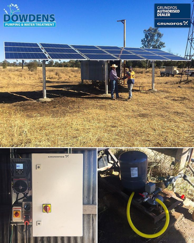 The boys from #DowdensRocky have installed yet another @grundfos #solar #pumping system for local #QLD #BeefCattle #graziers. This system #pumps from a #bore to an elevated #tankfarm which then supplies the properties many #cattle #watering troughs transferring on average 15000L/day all powered by the sun! Visit #DowdensPumping on @facebook for a link to this projects #casestudy.  . . . . #solarpanels #irrigation #borewater #cattleproperty #cattlemustering #muster #farm #farmland #bush…