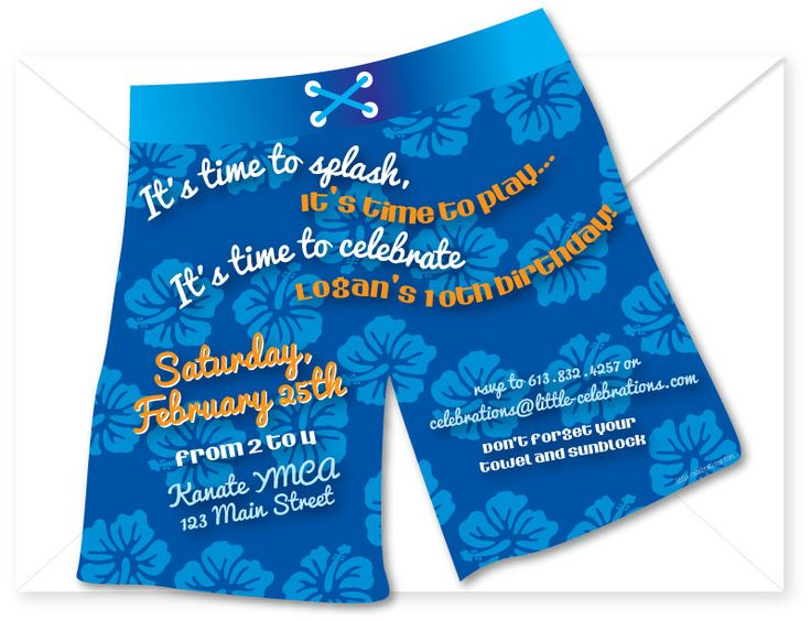 17 Best ideas about Swim Party Invitations – Pool Birthday Party Invitations