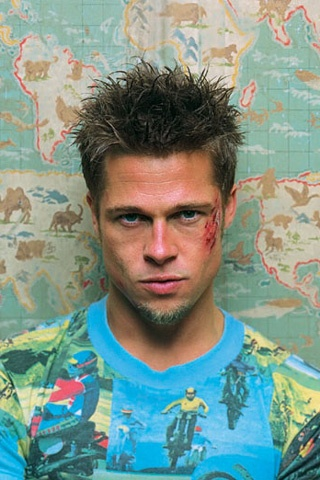 Brad Pitt dans Fight Club...old brad Pitt.  Pre-angelina!  Yayuuuh