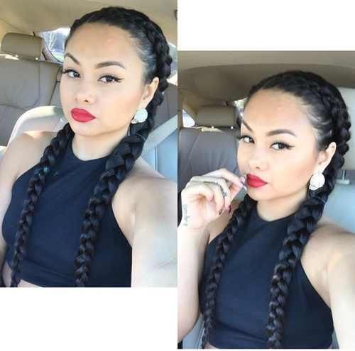 Best 25 two cornrow braids ideas on pinterest two cornrows two long hair styles for women urmus Images