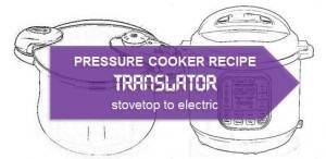 Pressure Cooker Recipe Translator: Stovetop to Electric