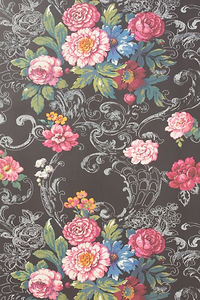 Venetian Bouquet Wallpaper - Anthropologie.com