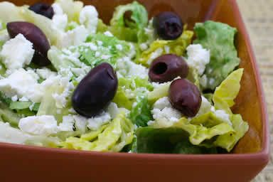 ... for Mediterranean Salad with Hummus Dressing, Olives, Capers, and Feta