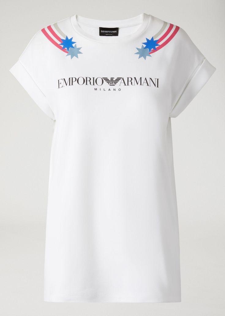 EMPORIO ARMANI CAMISETA CON ESTAMPADOS Y MANGAS CON VUELTA Camiseta D r