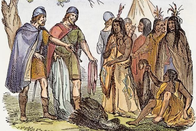 Vikings and indians. - DNA-undersökningar av 80 islänningar antyder att vikingarna nådde Amerika och förde med sig indianska kvinnor hem.
