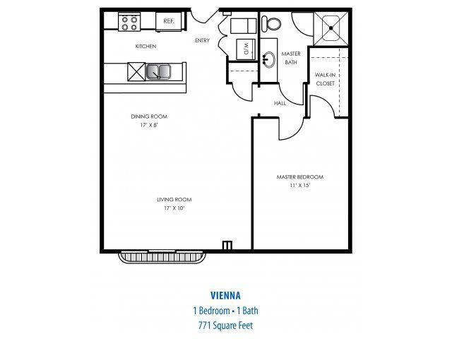 floorplan one bedroom apartment in indianapolis indiana