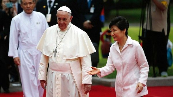 Two Korean women forced to work as sex slaves for Japanese soldiers during World War II will offer a print of a painting that symbolizes their painful experiences to Pope Francis next week – To read 8/13/14 Yohap News Agency article, click http://english.yonhapnews.co.kr/national/2014/08/13/53/0301000000AEN20140813008100315F.html - To learn more about sex slaves (Comfort Women) during World War II, click http://en.wikipedia.org/wiki/Comfort_women