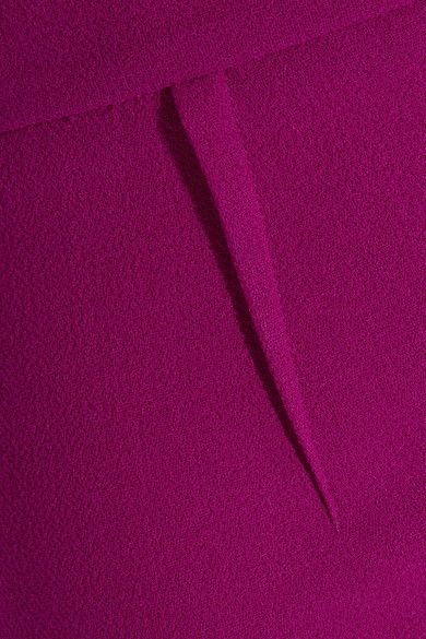 Roland Mouret - Arreton Wool-crepe Pencil Skirt - Purple - UK16