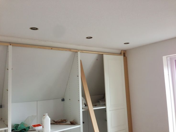 Built In Closet Walls angled ceiling   IKEA Hackers: Pax Built-in for sloping ceiling