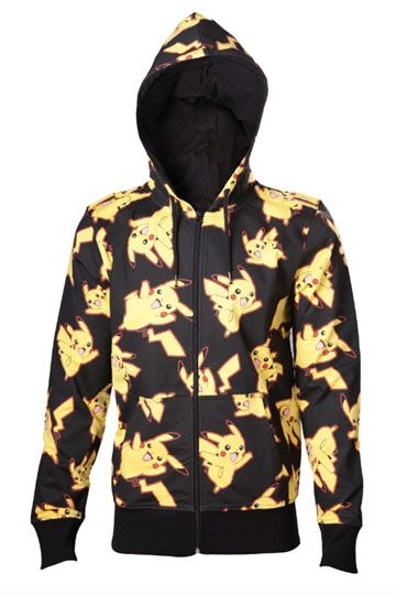 Pokemon Hooded Pikachu Sweater All Over