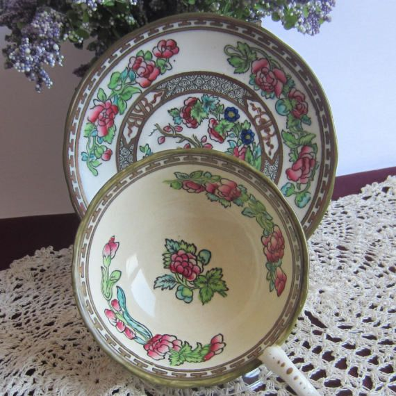 Coalport INDIAN TREE Wide Mouth Bone China Cup and Saucer