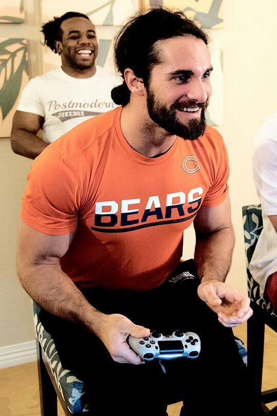 Seth Rollins -- Gotta love the gamer side of him. He even reacts the same way I do when I play a video game and it's kinda cute actually :P
