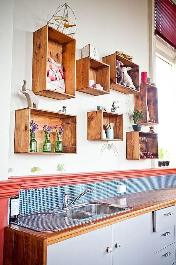 Wall-Mounted Box Shelves – A Trendy Variation On Open Shelves More