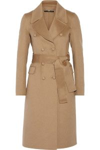 Fall and winter outfit. Gucci, Wool and angora-blend coat.