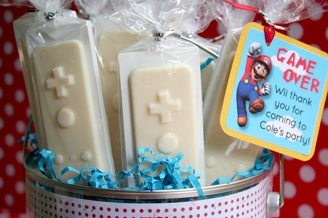 Mario Wii Party - birthday season is coming up! How cute for a party favor.