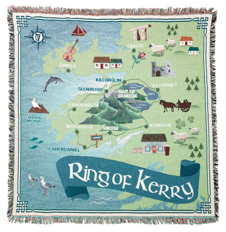 Wrap yourself up in Ireland with a Ring of Kerry 100% cotton throw blanket by Loominations Irish Custom Throws.  New business in County Cork.