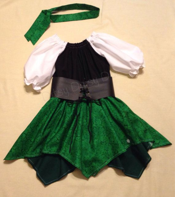 Toddlers/Girls Pirate Inspired Costume/Dress by DitsyDaisyDoo