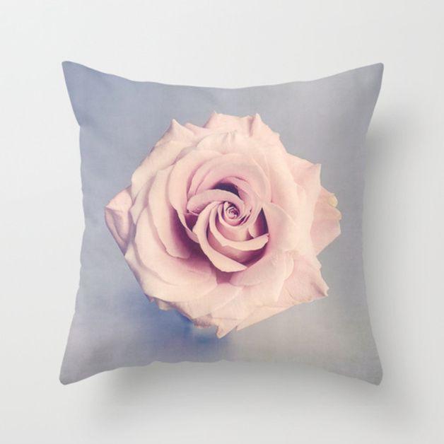 Coussin imprimé Rose #Quartz & #Serenity