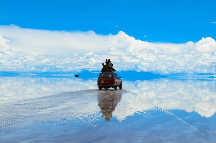 Drive above the clouds - at Salar de Uyuni  This photo was featured on Phlearn! Thank you!! :) ☞http://phlearn.com/weekend-inspiration-lxxiii