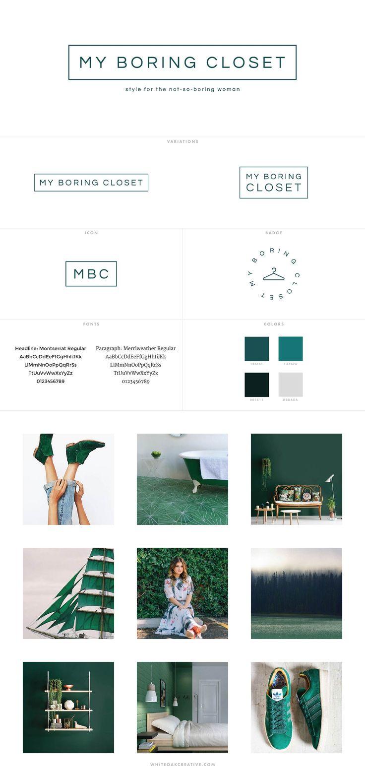 My Boring Closet Style Blog Design - logo design, wordpress theme, mood board inspiration, blog design idea, graphic design, branding, style blog, fashion