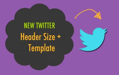 Great template to use to create a good looking twitter header banner. Learn the new Twitter header recommended dimensions (width and height) this 2014 update.