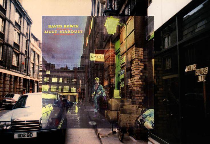 The Ziggy Stardust photo was taken outside of 23 Heddon Street, a small, block-long, dead end street in central London, just west of Carnaby street.
