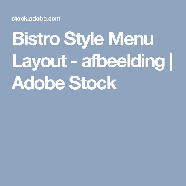 Bistro Style Menu Layout - afbeelding   Adobe Stock