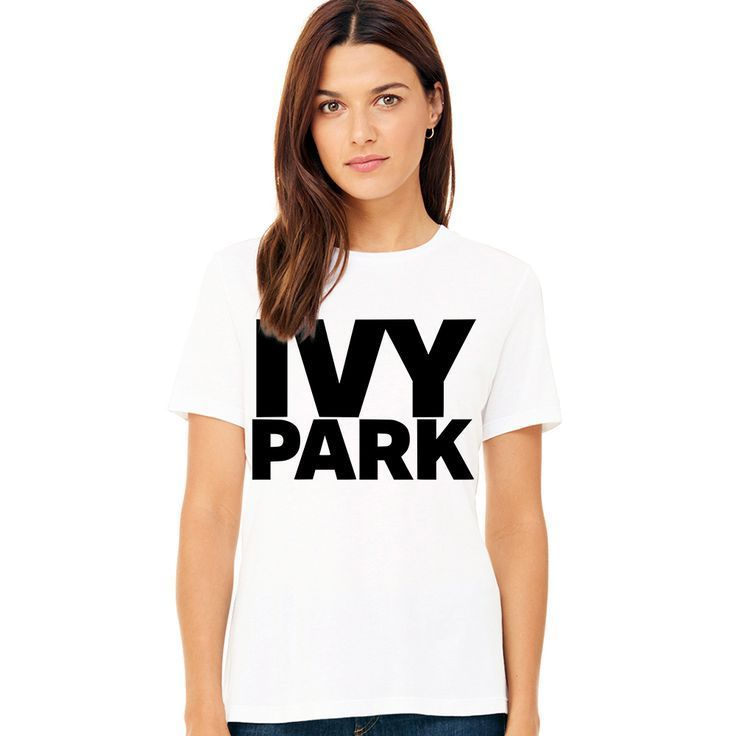 2017 T Shirt Women Summer Tshirt Beyonce IVY PARK Letter Logo Print Women T-Shir…