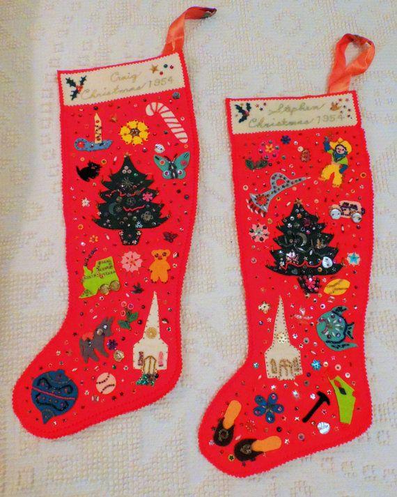 25 unique felt christmas stockings ideas on pinterest. Black Bedroom Furniture Sets. Home Design Ideas