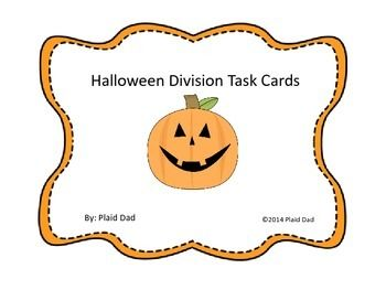Halloween Division Task Cards is a collection of 32 Halloween-themed tasks. The first twelve cards require division by 1-digit divisors. The next twelve cards require division by two-digit divisors. These tasks yield 1- and 2-digit quotients. The next four problems require the reader to adjust the estimate.