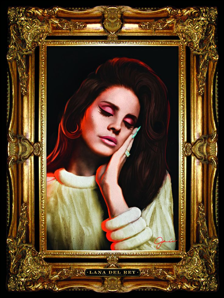 LANA DEL REY Tour 2015 Artwork by Kii Arens 18″ x 24″ • Lithograph We've partnered with our friends at Simply Framed to offer high quality custom framing made by hand here in the USA. Please allow an