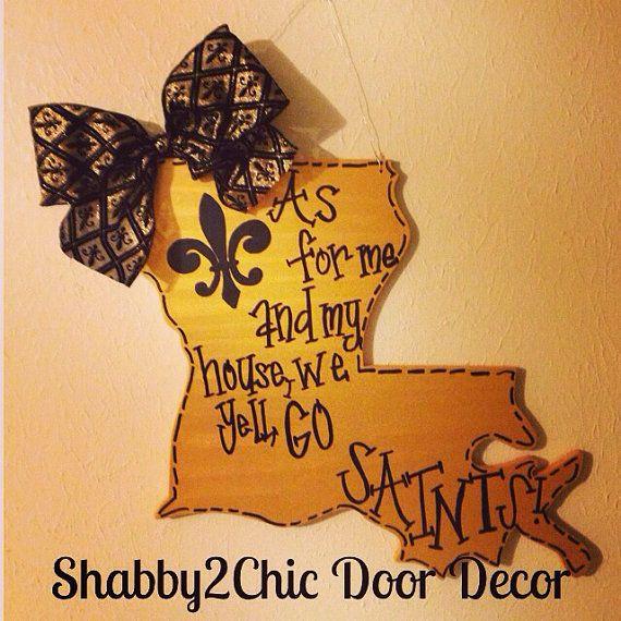Go Saints Door Hanger New Orleans By Shabby2chicdoordecor 45 00