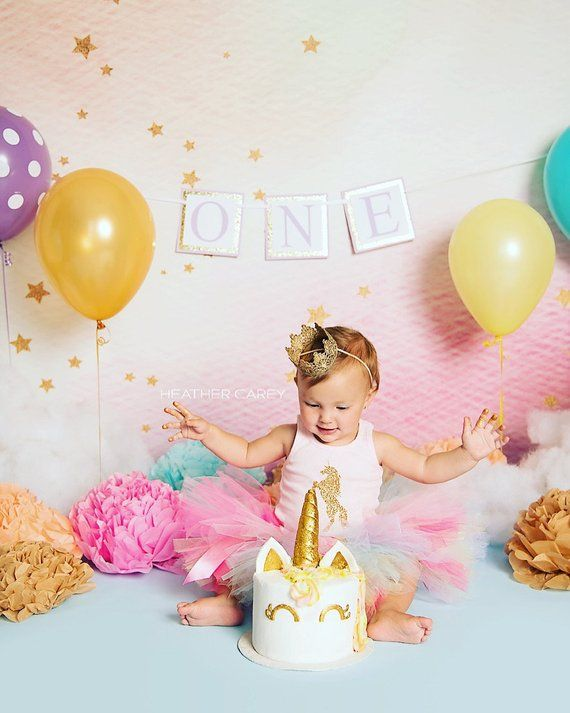 b663bde071ef 1st Birthday Girl Outfit - Tutu Dress - First Birthday Outfit Girl -  Rainbow Unicorn