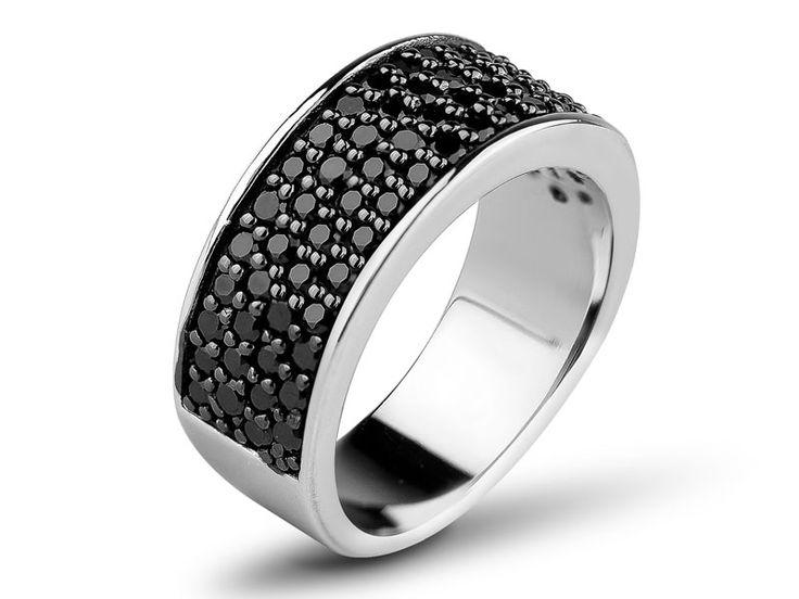 apart - Pierścionek srebrny z cyrkoniami - AP01-4095