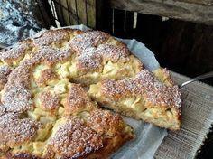 Apfelkuchen mit Haferflocken und Mandeln