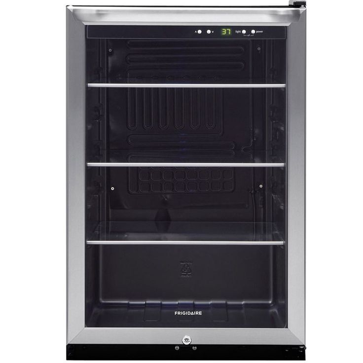 Shop Frigidaire 4.6-cu ft Stainless Steel Freestanding Beverage Center at Lowes.com $400 #lowe'shomeimprovementcenter,