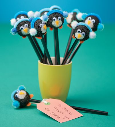 Craft: Penguin Pencil Toppers