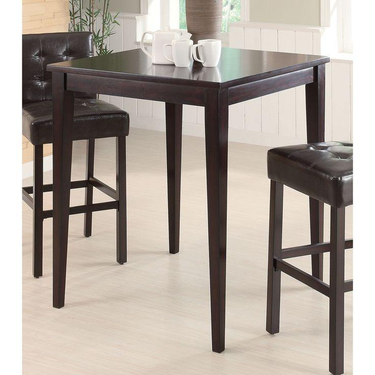 Coaster Company Brown Wood/ Veneer Pub Height Table (PUB HT Table)